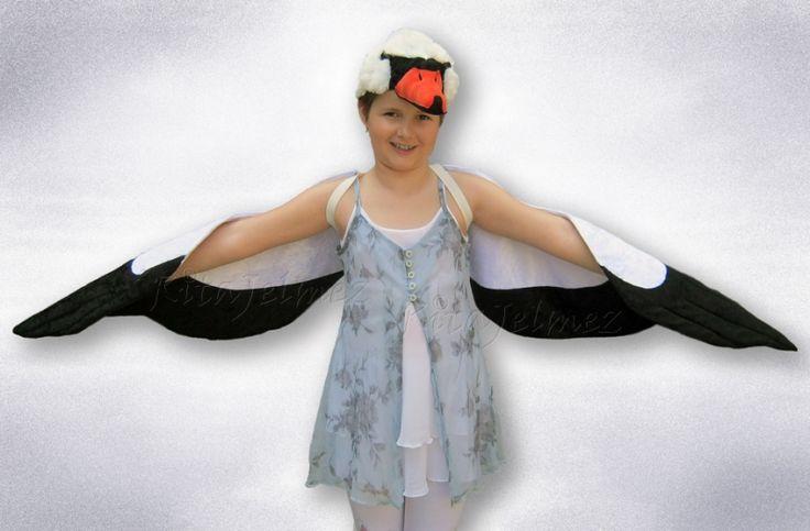 Gólya /Stork bird/ jelmez, de hattyú /Swan/ jelmezhez is jó kis átalakítással.