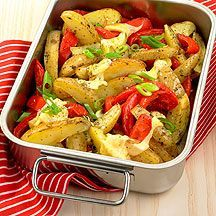 Weight Watchers - Gegratineerde aardappel- en paprikapartjes – 8pt