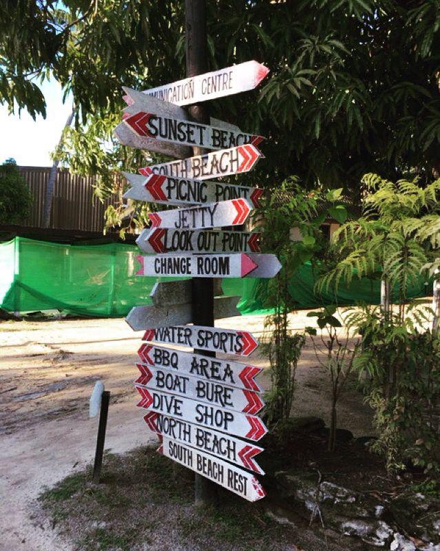 Signage at  Mana Island Resort #fiji #choices #signs