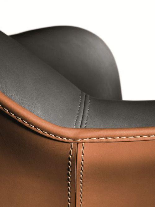 "thedesignwalker: ""AIDA leather sofa by Poltrona Frau design Roberto Lazzeroni """
