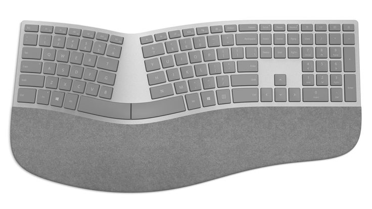 The upcoming desktop system ships with a new set of matching gray peripherals – keyboard and mouse, with an optional rotary dial for wireless input duty. But those suffering from chronic wrist and hand pain will want something more ergonomic than a flat-laying keyboard.