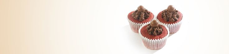 Get the recipe for delicious Maltesers red velvet cupcakes for your bake sale and help #bakeamillion for Red Nose Day.