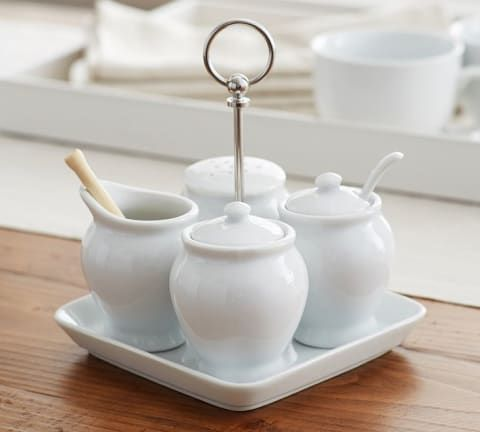 Great White Coffee Condiment Set