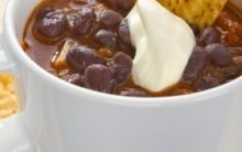 Mexican Black Bean Soup with Tomato Salsa