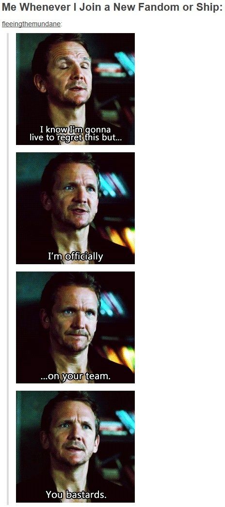 I love Balthazar. He's just the best. And this was pretty much my experience with the Supernatural fandom. You glorious bastards.