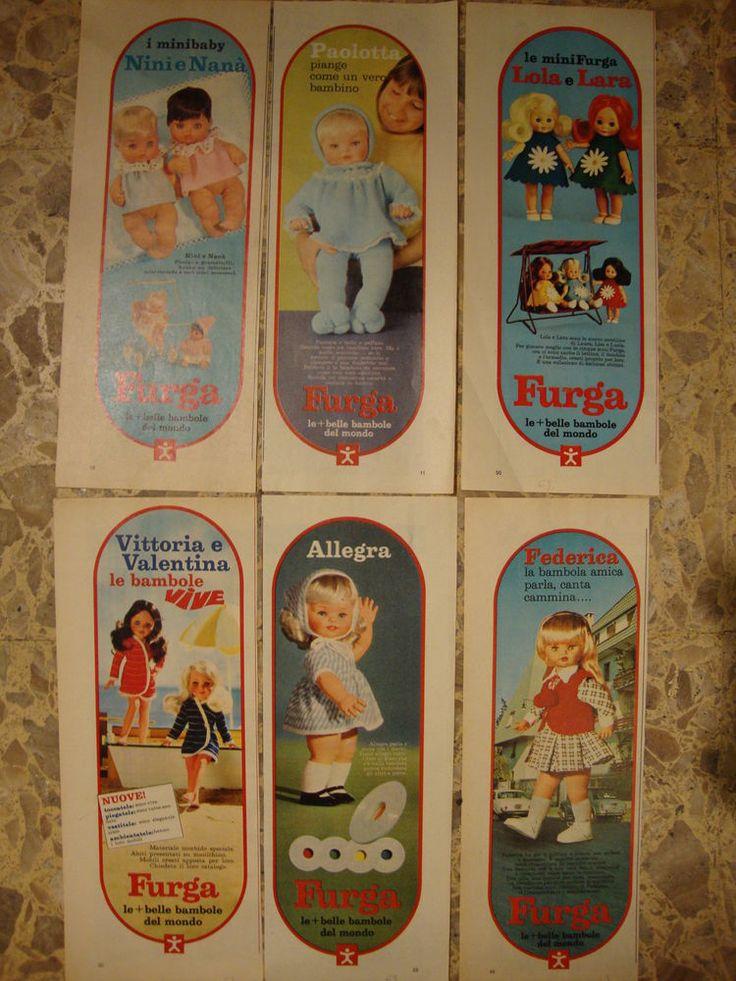Furga catalogo 1969, bambole, abiti e accessori - 6 Pubblicità, Advertising doll