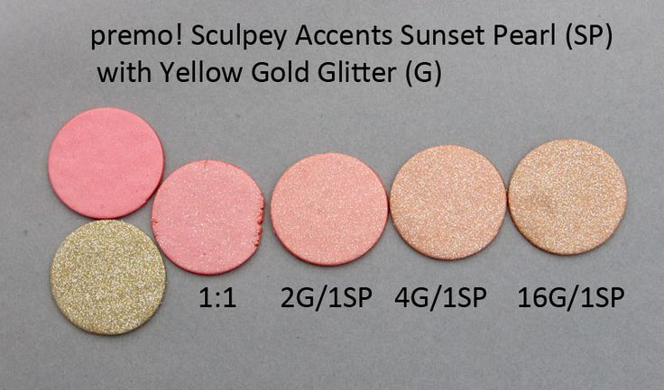 Premo! Color Recipes from Syndee Holt - Sunset Pearl & Yellow Gold Glitter