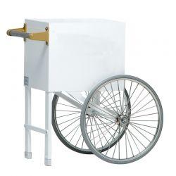 "Gold Medal Popcorn Machine Cart 18"" Plain White"