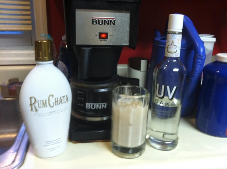 Michael's Rumchata Drink:  Equal parts RumChata, cake vodka and coffee over ice. Heaven in a glass!