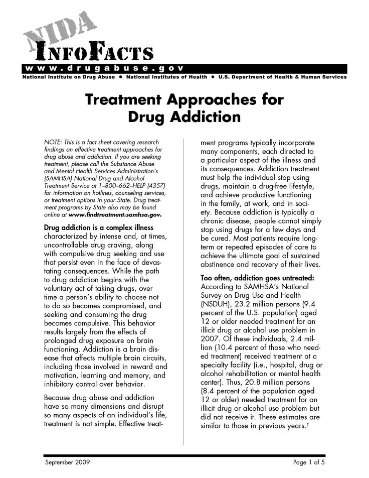 Free Relapse Prevention Worksheets | Treatment Approaches for Drug Addiction Treatment Approaches