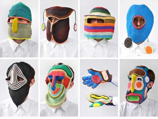 Ropemasks by Bertjan Pot. Imagine wearing one of these things out!