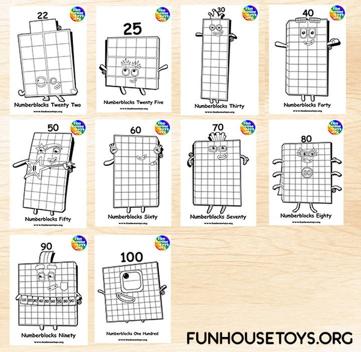 Fun House Toys Numberblocks Kids Printable Coloring Pages Coloring Pages Coloring For Kids