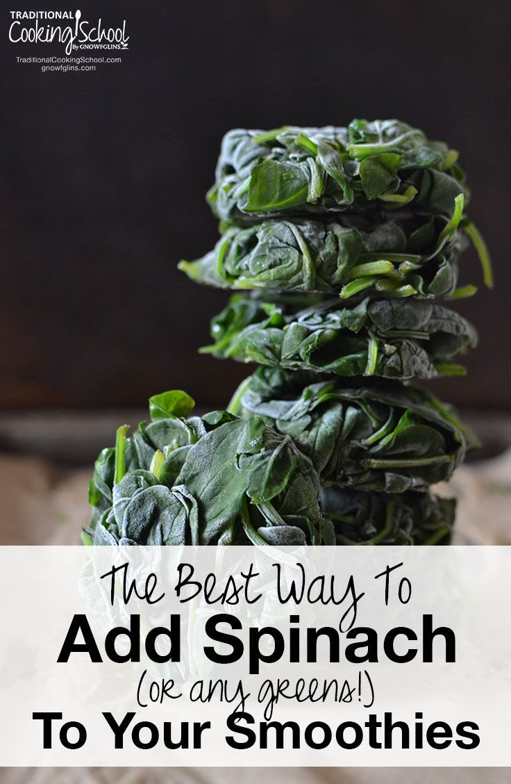 The Best Way To Add Spinach (or any greens!) To Your Smoothies | Spinach is one…