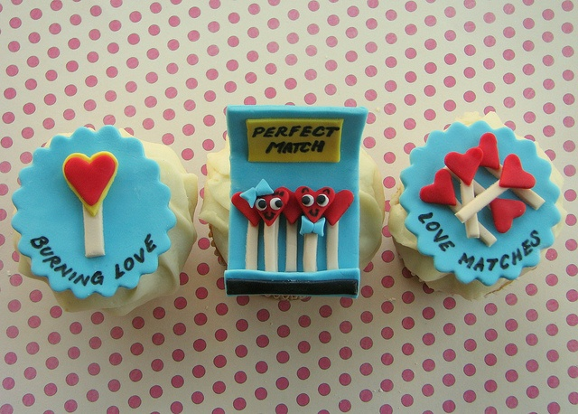 Perfect Match Valentine Cupcakes