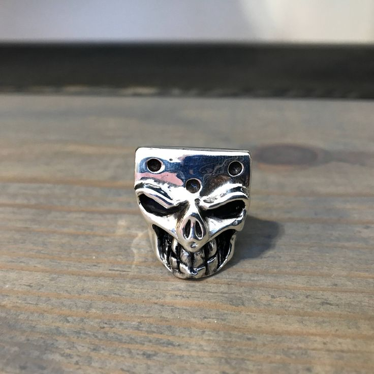 Sterling Silver Skull Ring THE GAMBLER - Silver Ring - Skull Ring - Biker Ring - Men's Ring - Silver Skull - Bad Ass Ring - Men's Jewelry by BadAssRingCo on Etsy https://www.etsy.com/listing/509510986/sterling-silver-skull-ring-the-gambler