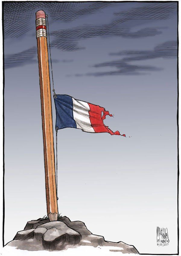 Best Responses To Charlie Hebdo Images On Pinterest Art Is - 24 powerful cartoon responses charlie hebdo shooting