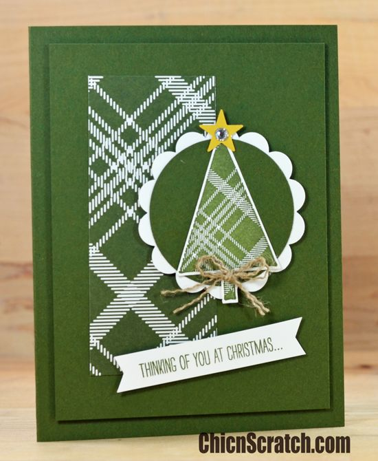 handmade Christmas card ... monochromatic green ... luv ...