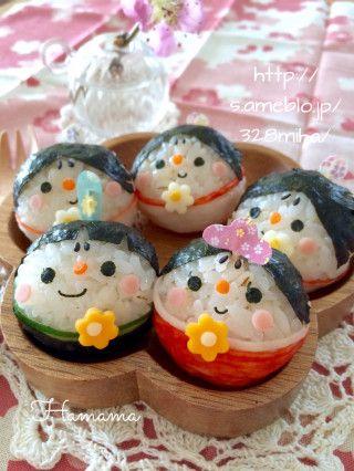 コロコロ〜♡簡単なひな祭りのおにぎり♡キャラ弁