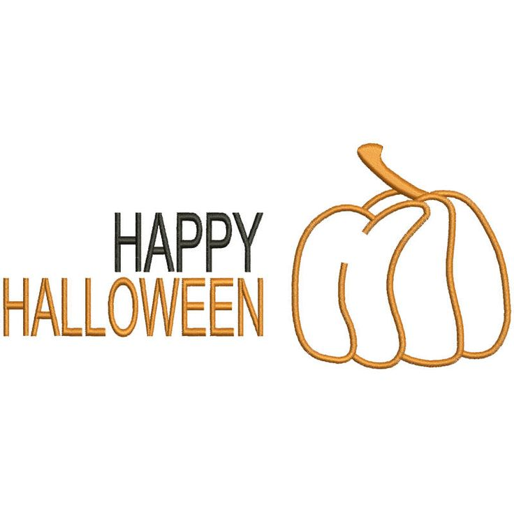 Happy Halloween Embroidery design Pumpkin designs pattern instant digital download t-shirt hoop file by SvgEmbroideryDesign on Etsy