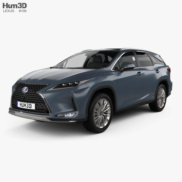 Lexus Rx L Hybrid 2019 In 2020 With Images Lexus Car 3d Model Car Model