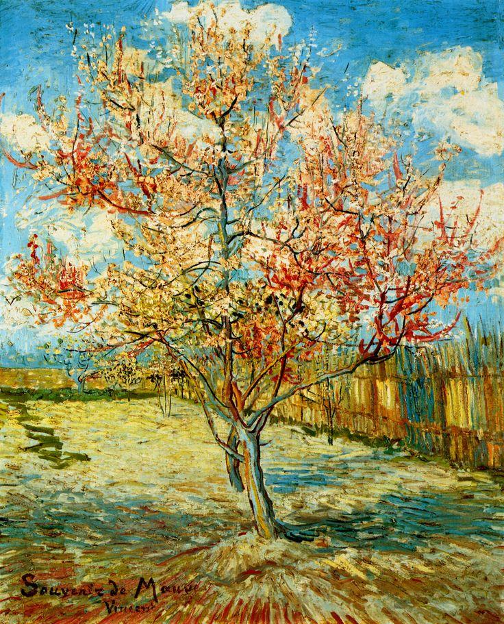 1888 Van Gogh L'Arbre fleuri, souvenir de Mauve, The ...