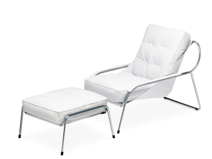 Upholstered lounge chair MAGGIOLINA by Zanotta | design Marco Zanuso 1947