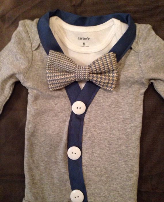 Cameron - Baby Boy Clothes – Newborn Outfit - Infant Bowtie Cardigan- Photo Prop- Shower Gift- Preppy- Ring Bearer-Christol and Company