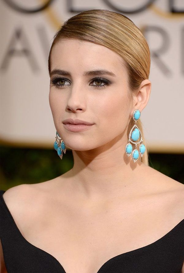 emma roberts beauty look                                                                                                                                                      More