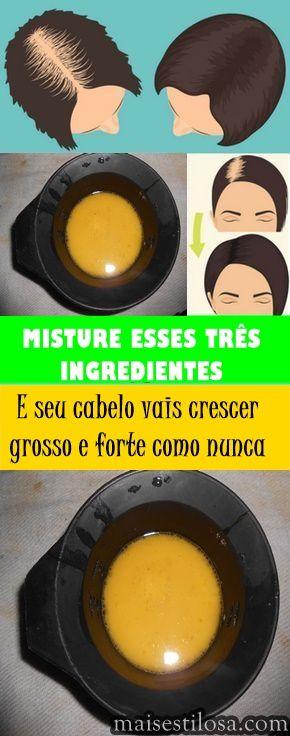 Misture esses três ingredientes e seu cabelo vai crescer forte e grosso como nunca. Aprenda a receita!