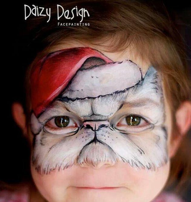 Grumpy Kitty Face Paint