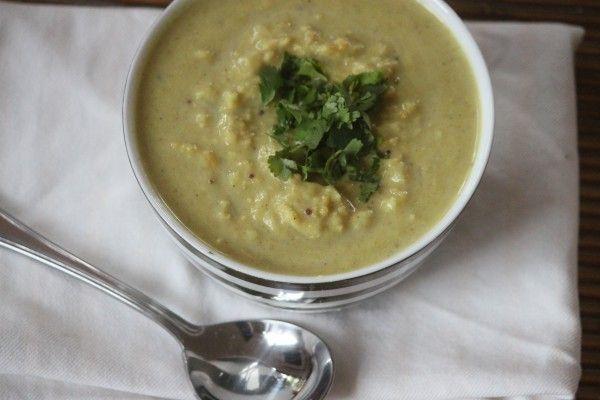 Indian Cauliflower, Potato and Mung Dal Soup