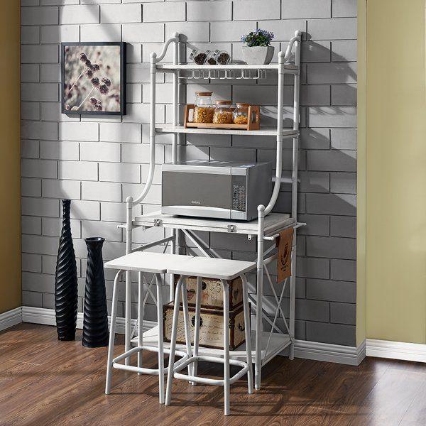 Rueda Iron Baker S Rack Set Bakers Rack Slatted Shelves