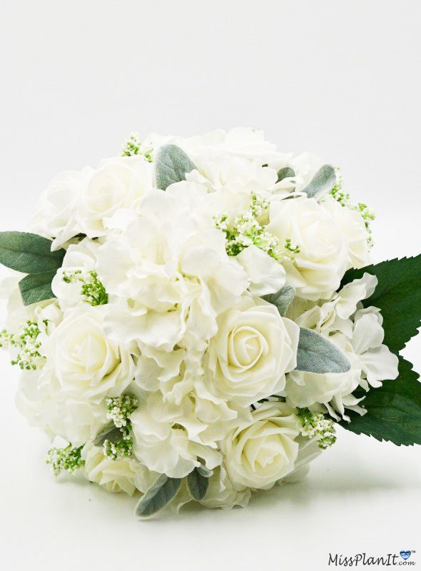 Diy Classic White Rose Wedding Bouquet For Less Than 40 In 2020 White Rose Wedding Bouquet Rose Wedding Bouquet Rose Wedding