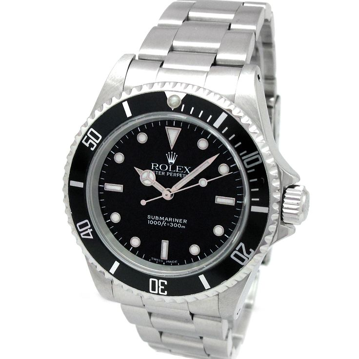 Crafted for a handsome touch, this stainless steel Pre-Owned Rolex has a slick black dial with signature markers. Powered with an automatic movement, this screw-down timepiece is a lovely addition to