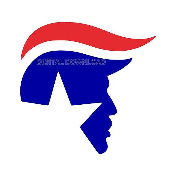 Trump Head Digital Download Svg Dxf Eps Silhouette Studio Cricut Design Space Silhouette Curio Projects Cricut Vinyl Silhouette Projects