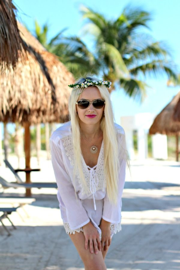 White Beach Cover Up Dress - Peas and Peonies