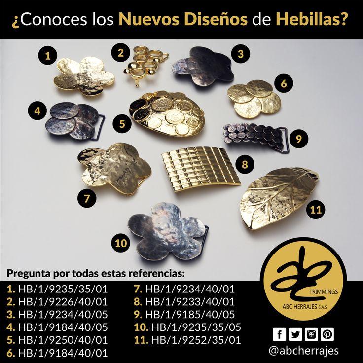 ¿Conoces los #NuevosDiseños de #Hebillas? Ven a #ABCHerrajes y pregunta por las referencias que ves allí. #Herrajes #Marroquinería #Cinturones #Moda #Estilo #Diseño  Nos puedes encontrar en:  #Bogota: Calle 74A # 23-25 / Tel: 2115117  #Medellin: Diagonal 74B # 32-133 / Tel: 3412383  #Barranquilla: Cra. 52 # 72-114 C.C. Plaza 52 / Tel: 3690687   Visítanos en: www.abcherrajes.com
