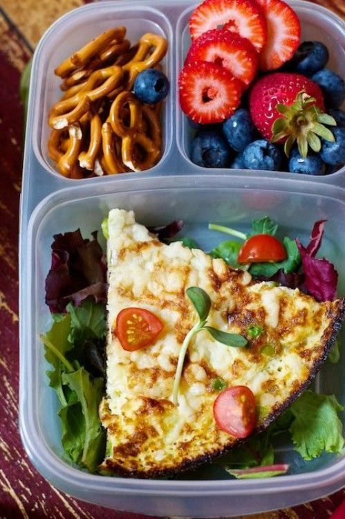 Lunch idea... love the quiche and the box its in