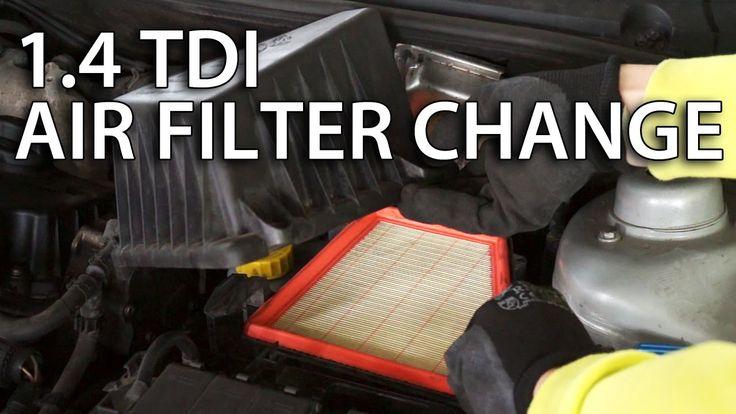 How to change intake air filter 1.4TDI & 1.9 TDI (#VW #Skoda #Seat Roomster) #cars
