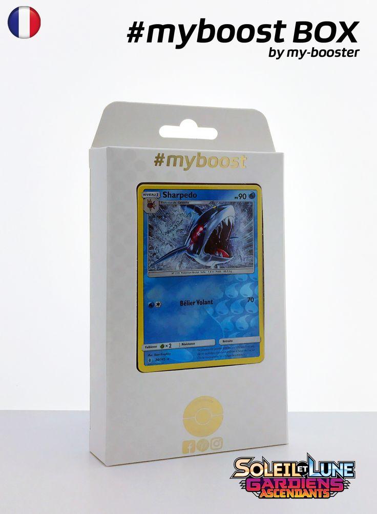 Coffret #myboost SHARPEDO 28/145 Contient 10 cartes Pokemon francaises Soleil et Lune 2 neuves dont : - la carte SHARPEDO holo reverse 28/145 90PV de la serie Soleil&Lune 2 - 1 carte Holographique ou Reverse - 1 carte 100PV - 1 carte 90PV - 1 carte 80PV my-booster, l offre POKEMON PREMIUM