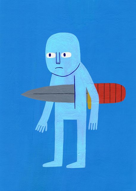 Knife by Jack Teagle, via FlickrTeagle Deviantart Com, Knife Jack Teagle, Art Shock, Illustration, Graphics Design, Illu Design Post, Jack O'Connel, Knives, 3 9 14 Knife Jack