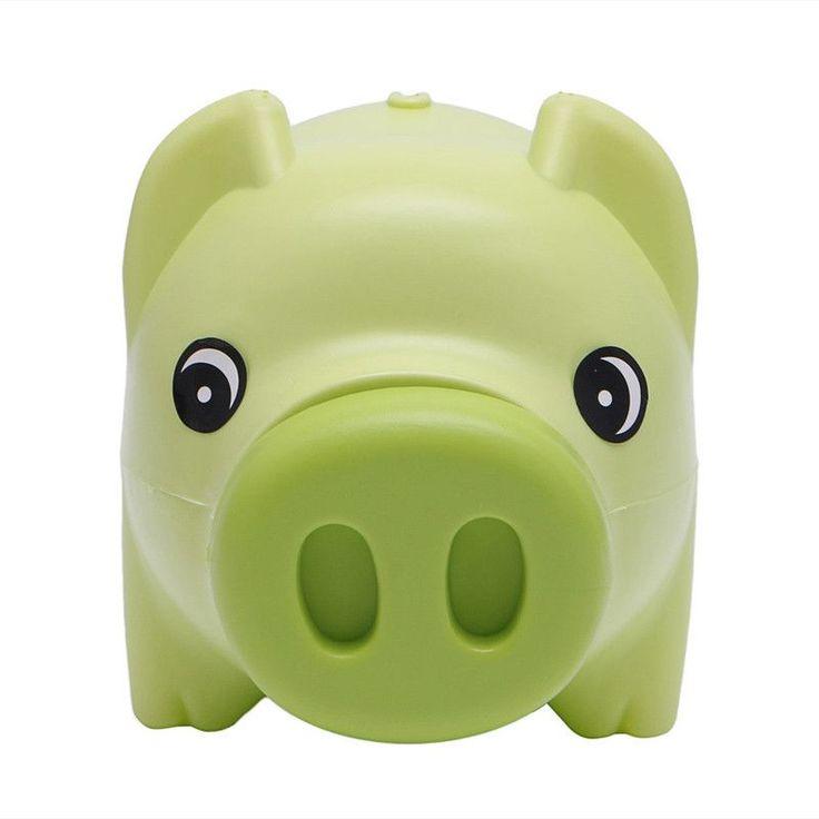 Money Box Plastic Piggy Bank Coin Money Cash Collectible Saving Box Pig Toy Kids Gift