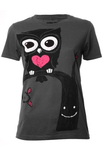 Akumu Ink Owl Womens T-Shirt £19.99 from attitudeclothing.co.uk