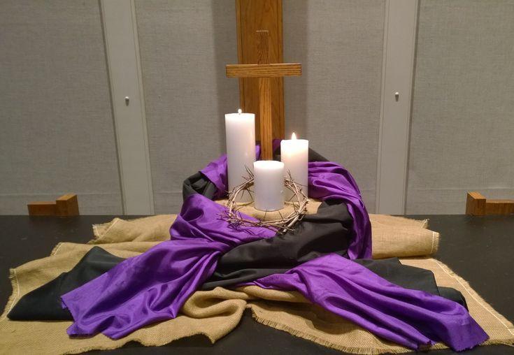 Ash Weds/Lenten altar 2015. thanks for the inspiration dawnathome.typepad.com