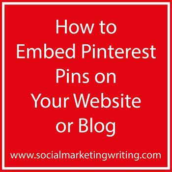 How to Embed Pinterest Pins on Your Website or Blog http://socialmarketingwriting.com/how-to-embed-pinterest-pins-on-your-website-or-blog/