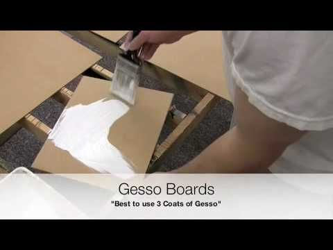 Prepare MDF Panels for Painting with Oils or Acrylics (primes with gesso board) (might be for more oil painting look, canvas finish)