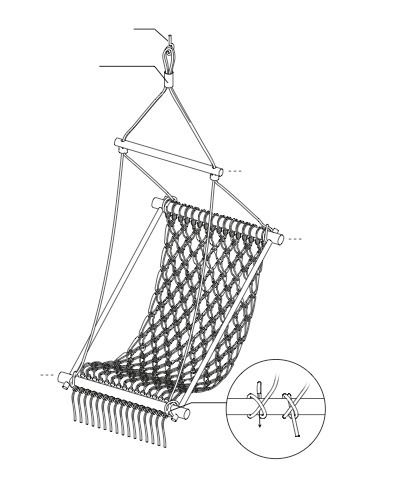 How to make a chair. Hanging Chair - Step 6( and instructions from start to finish!)