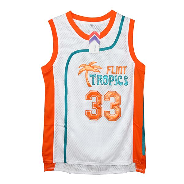 Jackie Moon  33 Flint Tropics Semi-Pro Jersey. Camiseta ... 07e6db62702