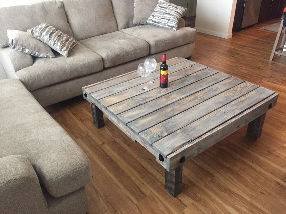 i just love how this custom table turned out the washington couple had other grey furniture and brown wood floors so we did a mix of the 2