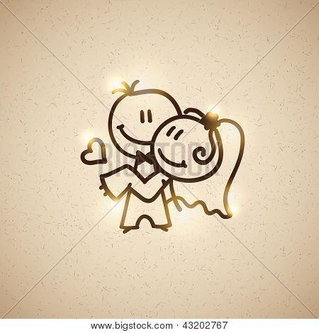 pareja de boda, vector eps 10
